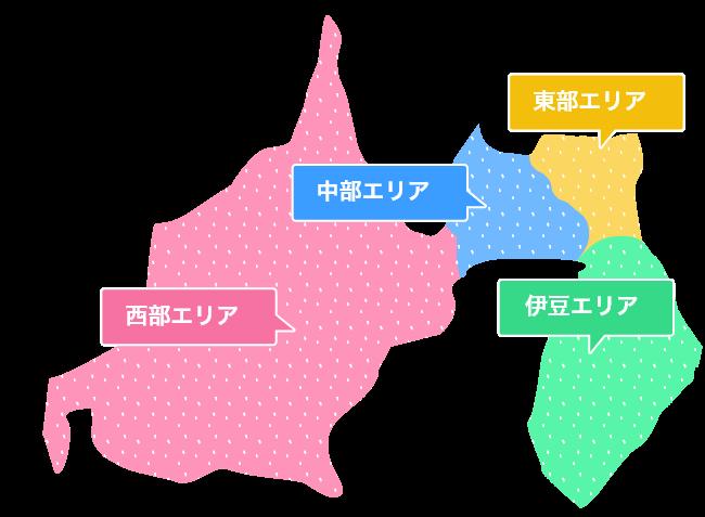 静岡県イラスト地図